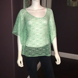 UEC mint green lace top small Forever 21